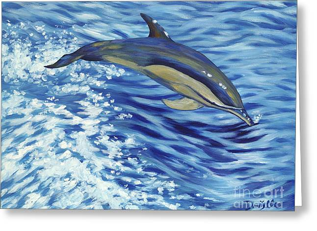 Danielle Perry Paintings Greeting Cards - Chasing You Greeting Card by Danielle  Perry