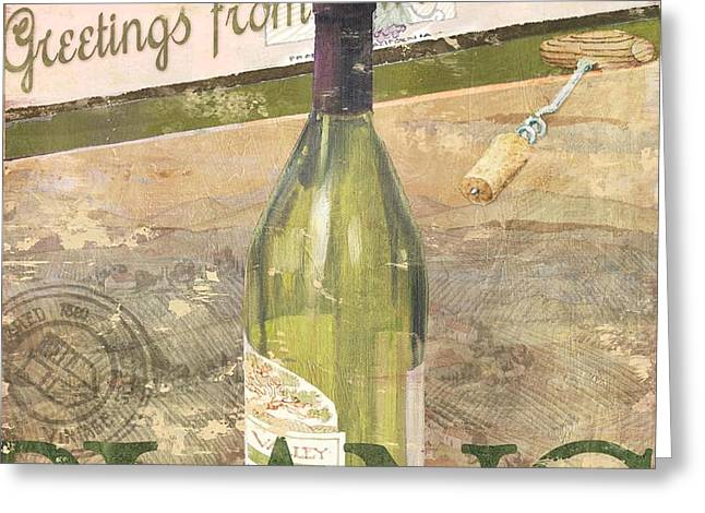 Chateau Chardonnay Greeting Card by Paul Brent