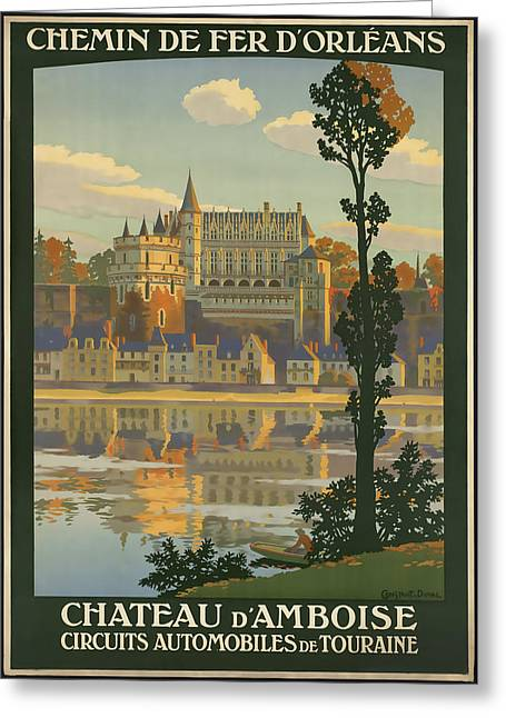 Chateau Greeting Cards - Chateau D Amboise Greeting Card by David Wagner