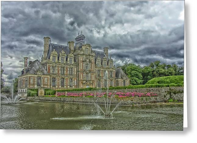 Chateau Greeting Cards - Chateau de Beaumesnil Greeting Card by Thierryrbt0