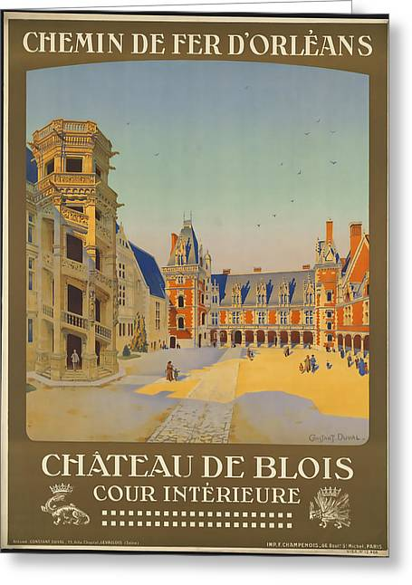 Chateau Greeting Cards - Chateau De Blois Greeting Card by David Wagner