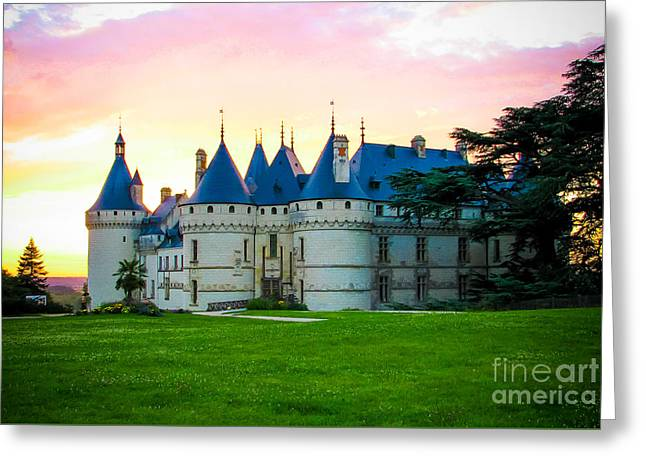 Chateau Greeting Cards - Chateau de Chaumont Greeting Card by Anna Serebryanik