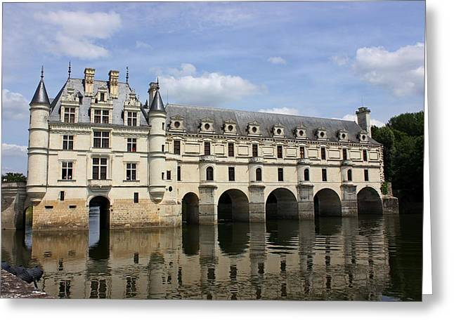 Chateau Greeting Cards - Chateau de Chenonceau Greeting Card by Ali Garland