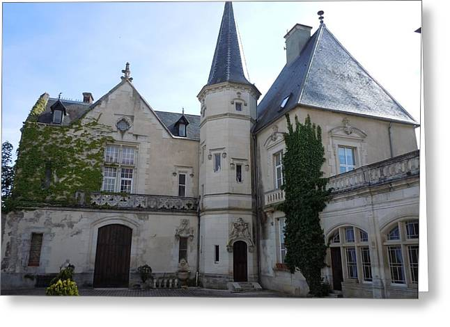 French Door Greeting Cards - Chateau de Sainte Sabine Greeting Card by Marilyn Dunlap