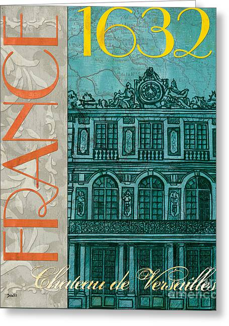 Orange Posters Greeting Cards - Chateau de Versailles Greeting Card by Debbie DeWitt