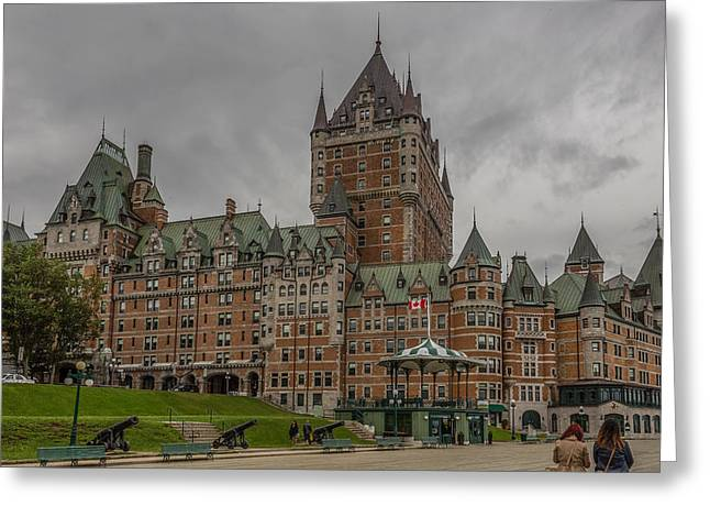 Chateau Greeting Cards - Chateau Frontenac Greeting Card by Capt Gerry Hare