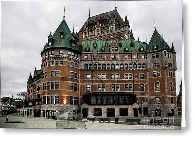 Chateau Pyrography Greeting Cards - Chateau Frontenac Greeting Card by Olga Photography