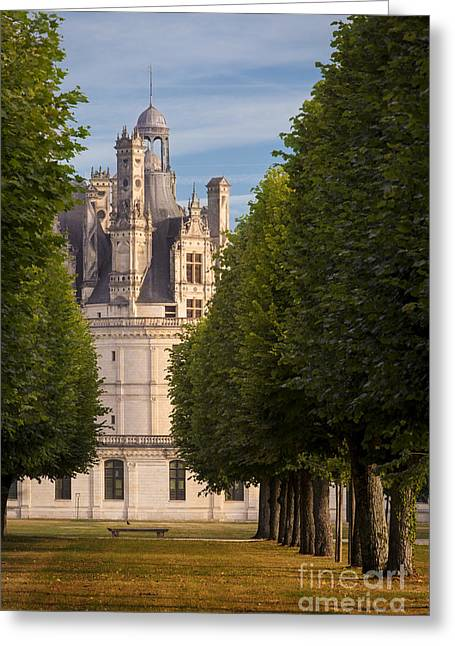 Chateau Greeting Cards - Chateau Morning Greeting Card by Brian Jannsen