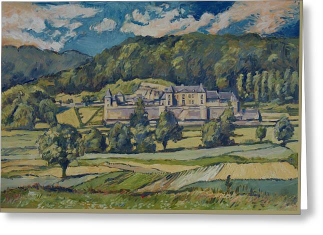 Limburg Greeting Cards - Chateau Neercanne Greeting Card by Nop Briex