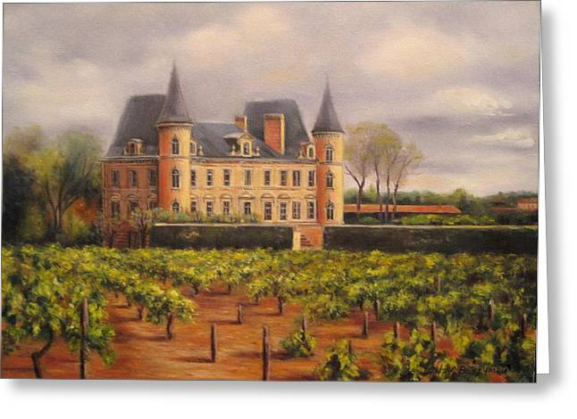 Chateau Greeting Cards - Chateau Pichon in Medoc Greeting Card by Gulay Berryman