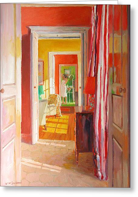 Interior Still Life Paintings Greeting Cards - Chateau Tanesse Greeting Card by William Ireland