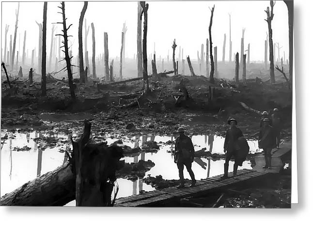 Wwi Greeting Cards - CHATEAU WOOD France World War One  1917 Greeting Card by Daniel Hagerman