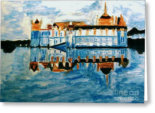 Catherine De Medicis Greeting Cards - Chateaude chantilly Greeting Card by Stanley Morganstein