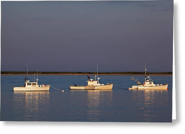 Cape Cod Mass Greeting Cards - Chatham Bay Greeting Card by Nick  Shirghio