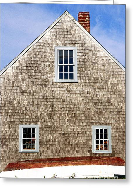 Chatham Boathouse Greeting Card by John Greim
