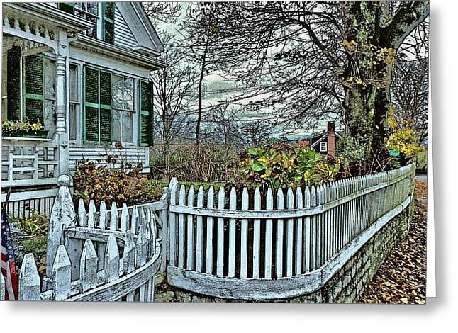 Chatham Greeting Cards - Chatham in the Fall Greeting Card by Feathergwyn Twomey