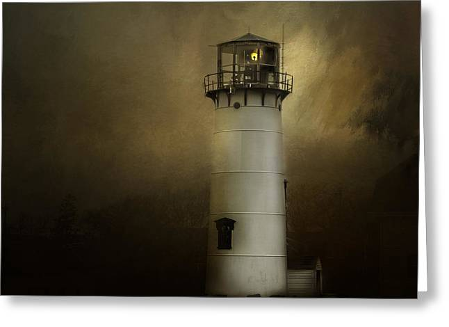 Chatham Greeting Cards - Chatham Light Greeting Card by Mary Clough