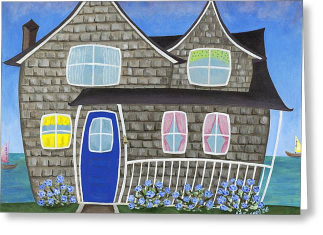 Chatham Paintings Greeting Cards - Chatham Soundview Greeting Card by Melissa Fassel Dunn