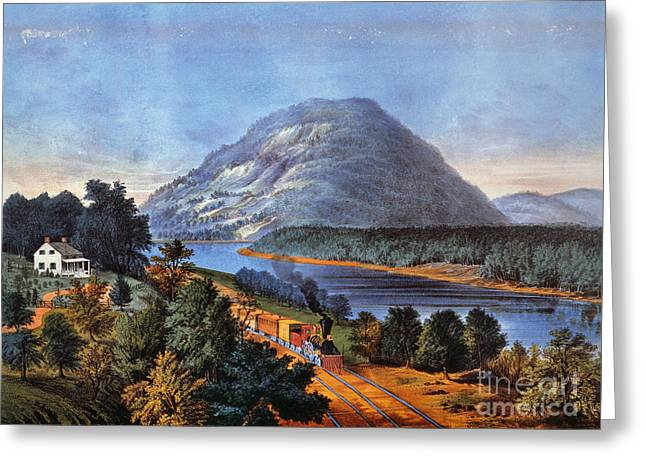 1866 Greeting Cards - Chattanooga Railroad Greeting Card by Granger