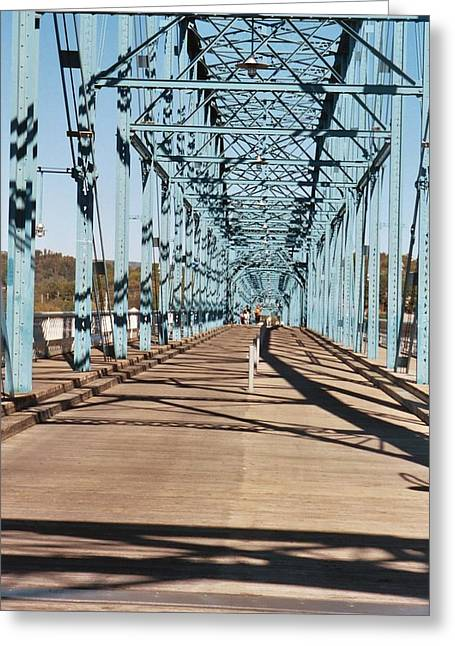 Tennessee River Digital Greeting Cards - Chattanooga Walking Bridge Greeting Card by Jake Hartz