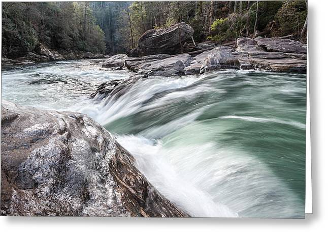 Escarpment Greeting Cards - Chattooga River Winter Whitewater Cascade Greeting Card by Mark VanDyke