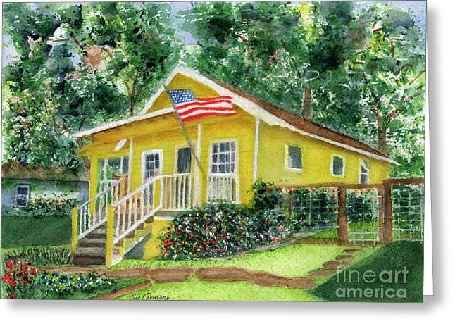 Chautauqua Cottage Greeting Card by Sue Carmony