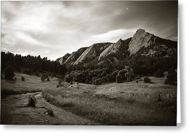 Surreal Landscape Greeting Cards - Chautauqua Night Path 2 Greeting Card by Marilyn Hunt