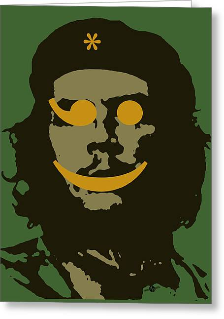 Che Guevara Emoticon 1 Greeting Card by Tony Rubino