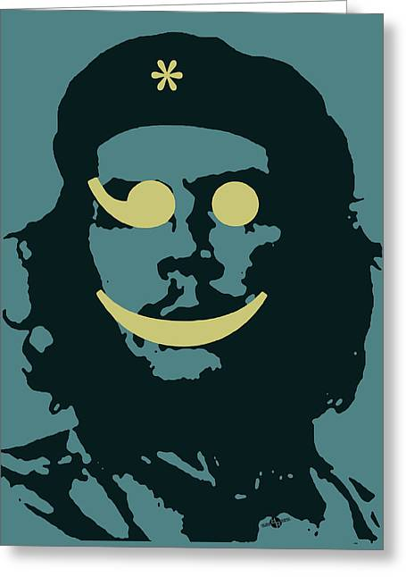 Che Guevara Emoticon 2 Greeting Card by Tony Rubino