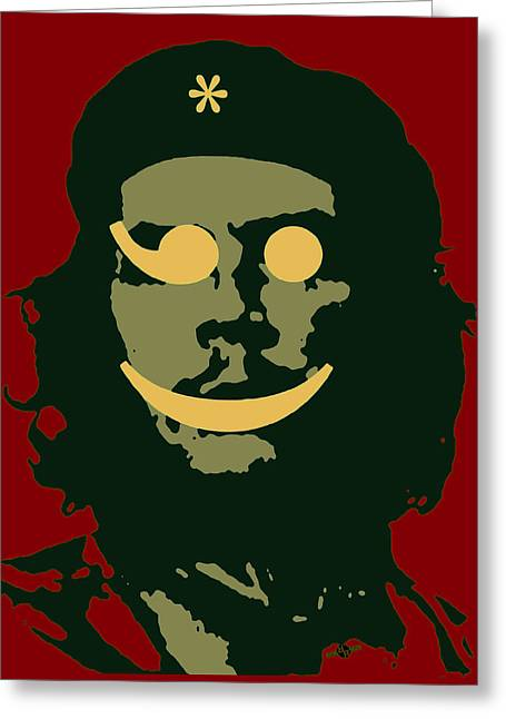 Che Guevara Emoticon 3 Greeting Card by Tony Rubino