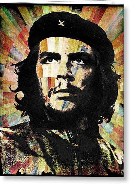 Counterculture Greeting Cards - Che Guevara Revolution Gold Greeting Card by Tony Rubino