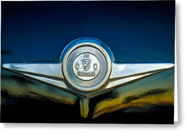Checker Greeting Cards - Checker Marathon Taxicab Emblem -ck1104c Greeting Card by Jill Reger