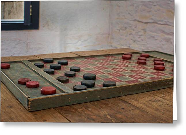 Board Game Greeting Cards - Checkered Past - Checkers Greeting Card by Nikolyn McDonald