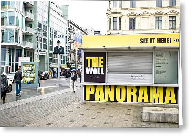 Checkpoint Charlie Greeting Card by Tom Gowanlock