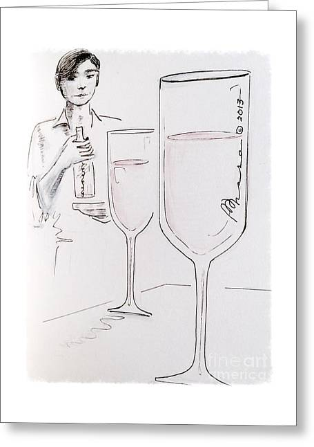 Cheers Greeting Card by Barbara Chase