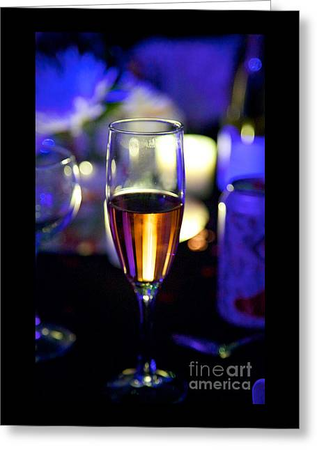 Champagne Glasses Greeting Cards - Cheers Greeting Card by Bonnie Donovan