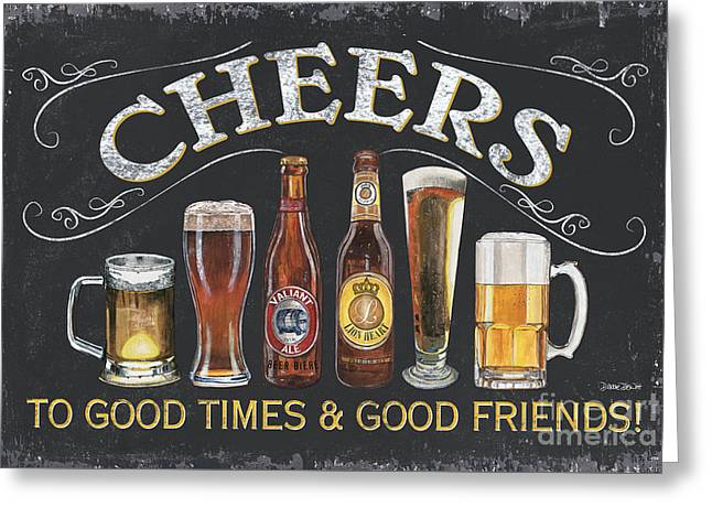 Pitchers Greeting Cards - Cheers  Greeting Card by Debbie DeWitt