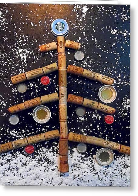 Cheers To Christmas Greeting Card by Jilian Cramb - AMothersFineArt