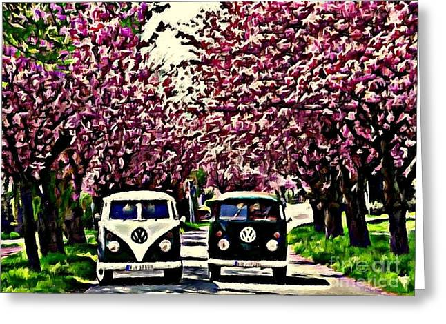 Cheery Blossom Greeting Card by S Poulton