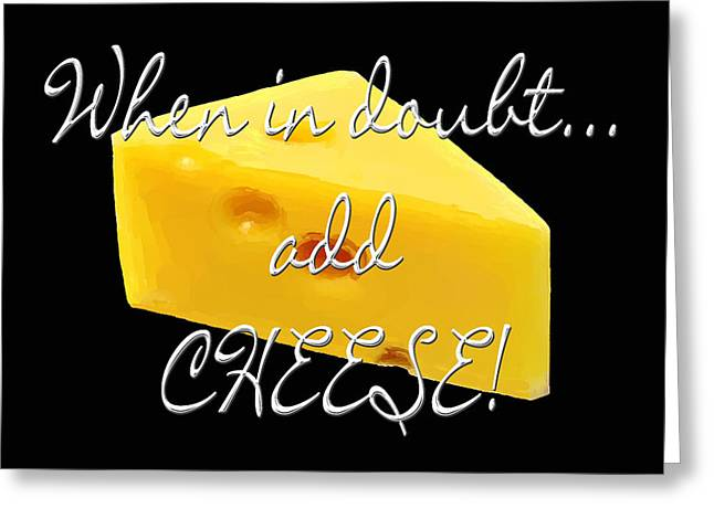 Bakery Poster Greeting Cards - Cheese Greeting Card by Methune Hively