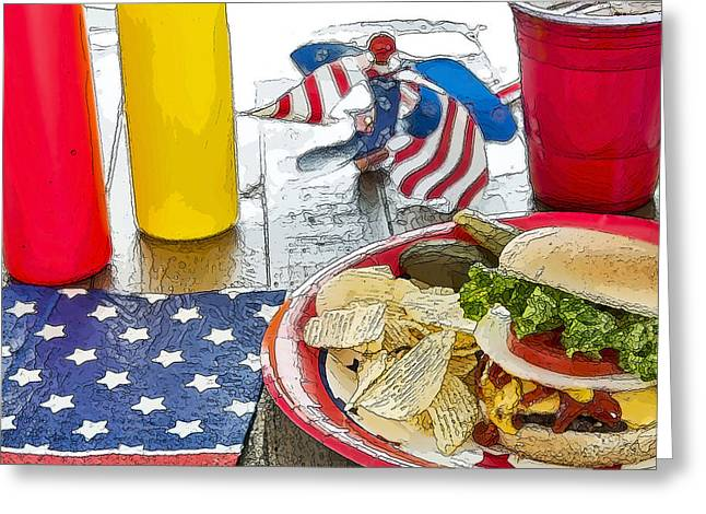 Cheeseburger Digital Greeting Cards - Cheeseburger Cheeseburger Greeting Card by LeeAnn White
