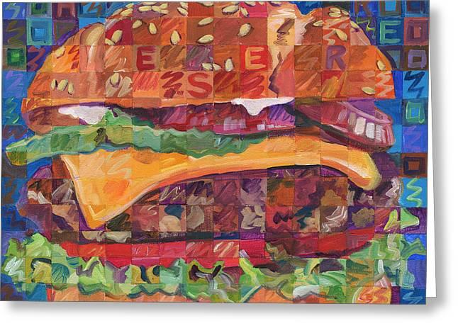 Cheeseburger Greeting Card by Randal Huiskens