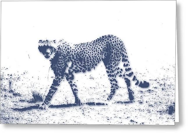 Growl Photographs Greeting Cards - Cheetah 2 Greeting Card by Joe Hamilton