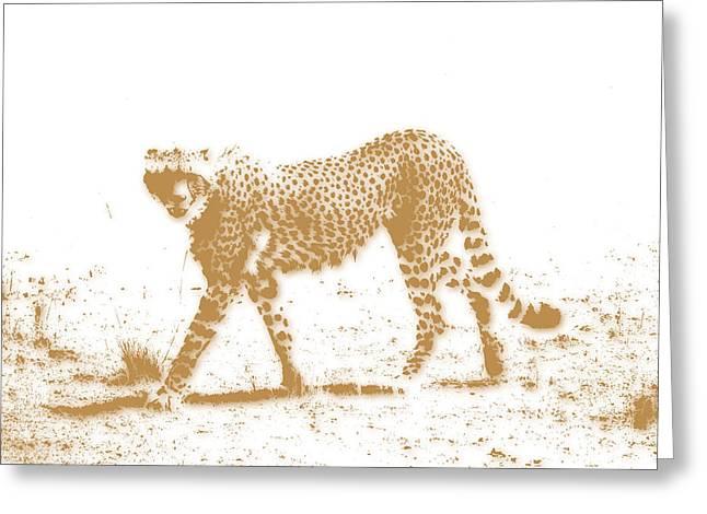 Mount Kilimanjaro Greeting Cards - Cheetah 3 Greeting Card by Joe Hamilton