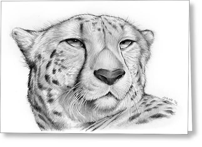 Cheetah Greeting Card by Greg Joens
