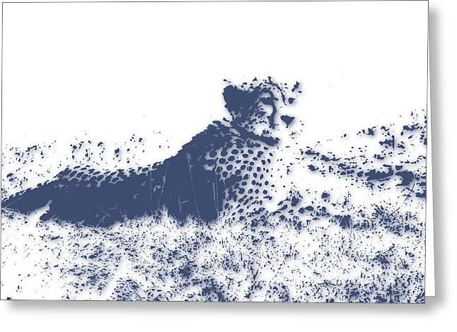 Cheetah Greeting Card by Joe Hamilton