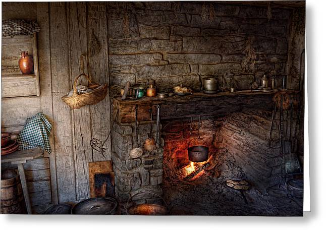 Chef - Kitchen - Home For The Holidays  Greeting Card by Mike Savad