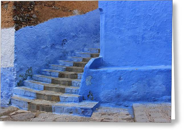Chefchaouen Greeting Card by Ramona Johnston
