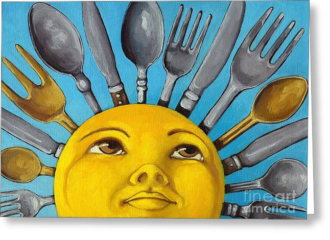 Utensils Greeting Cards - Chefs Delight - CBS Sunday Morning Sun Art  Greeting Card by Linda Apple