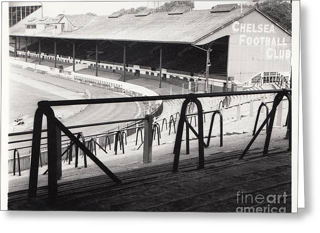 Chelsea Greeting Cards - Chelsea - Stamford Bridge - East Stand 4 - August 1969 Greeting Card by Legendary Football Grounds